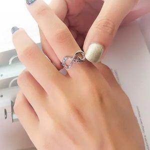 Mom Artificial Opal Zircon Ring Sz 9